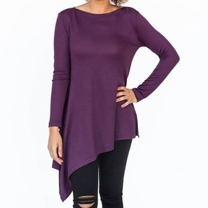 A&D Asymmetrical Tunic Deep Purple